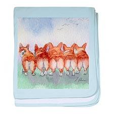 Five Corgi butts baby blanket