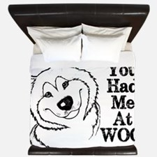 You Had Me at WOO. Alaskan Malamute King Duvet