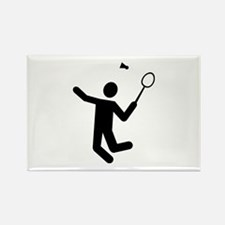 Badminton player Rectangle Magnet