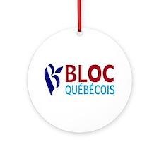 Bloc Quebecois Ornament (Round)