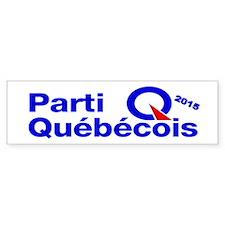 Parti Quebecois 2015 Bumper Sticker