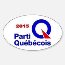 Parti Quebecois 2015 Sticker (Oval)