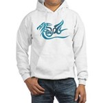 Blue dragon tattoo Hooded Sweatshirt