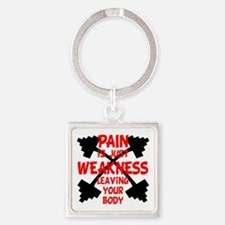 PAIN Square Keychain