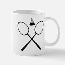 Crossed Badminton rackets Mug