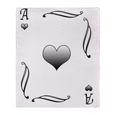 playing card Throw Blanket