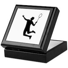 Badminton player jump Keepsake Box