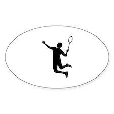 Badminton player jump Decal