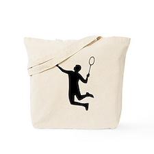 Badminton player jump Tote Bag