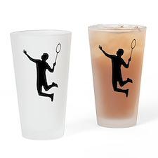 Badminton player jump Drinking Glass