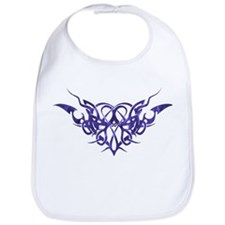 Purple heart tattoo Bib