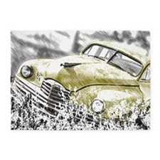 Oldtimer in the meadow 5'x7'Area Rug