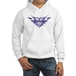 Purple heart tattoo Hooded Sweatshirt