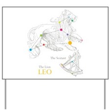 LEO Astrology Yard Sign