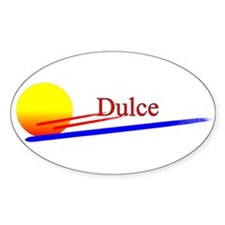 Dulce Oval Decal