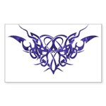 Purple heart tattoo Rectangle Sticker