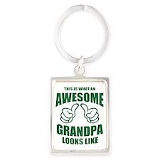 Awesome Grandpa Portrait Keychain