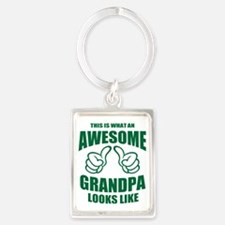 Awesome Grandpa Portrait Keychain