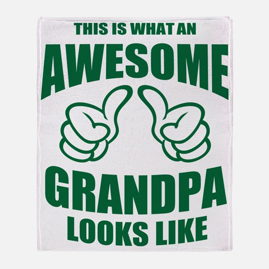 Awesome Grandpa Throw Blanket