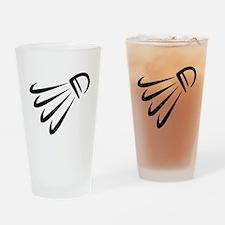 Badminton shuttlecock Drinking Glass