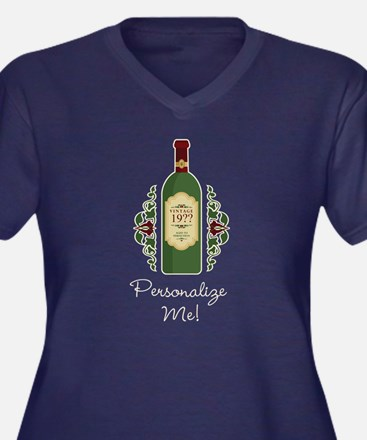 Customizable Birthday Plus Size V-Neck Dark Tee