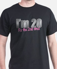 20 2nd Time 40th Birthday T-Shirt