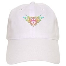 Pastel heart tattoo Baseball Cap