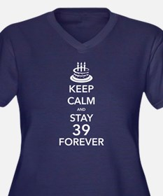 Keep Calm Stay 39 Plus Size T-Shirt