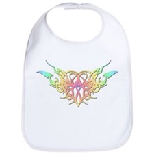 Pastel heart tattoo Bib