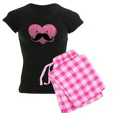 Kawaii Mustache Heart Pajamas