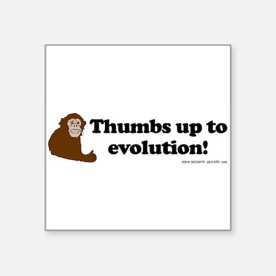 3-monkey thumbs sticker Sticker