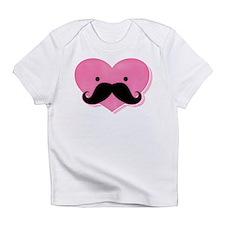 Kawaii Mustache Heart Infant T-Shirt