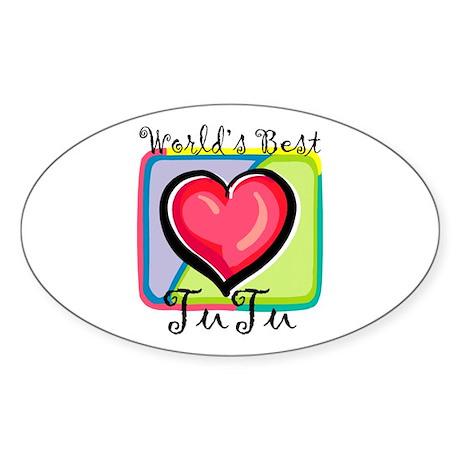 WB Grandma [Hawaiian] Oval Sticker