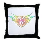 Pastel heart tattoo Throw Pillow