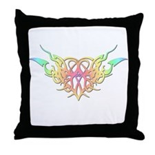 Pastel heart tattoo Throw Pillow