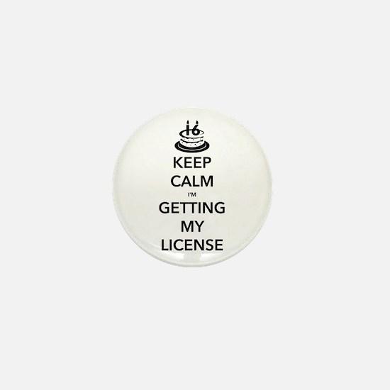 Keep Calm Sweet 16 Mini Button