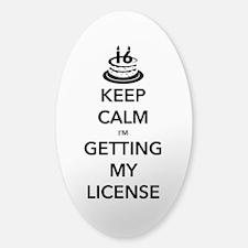 Keep Calm Sweet 16 Sticker (Oval)