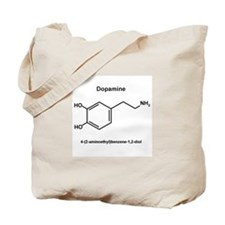 Dopamines structure common and IUPAC name Tote Bag