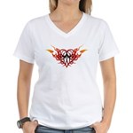 Winged heart tattoo Women's V-Neck T-Shirt