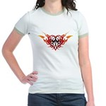 Winged heart tattoo Jr. Ringer T-Shirt