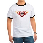 Winged heart tattoo Ringer T