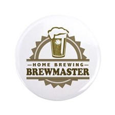 "Brewmaster Home Beer Brewer 3.5"" Button (100 pack)"