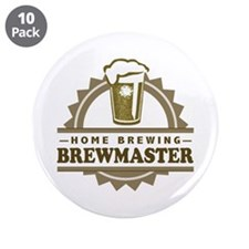 "Brewmaster Home Beer Brewer 3.5"" Button (10 pack)"