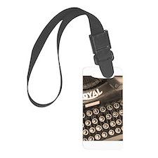 Old Typewriter Luggage Tag