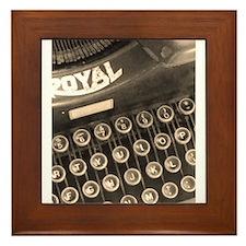 Old Typewriter Framed Tile