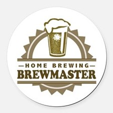 Brewmaster Home Beer Brewer Round Car Magnet