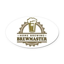 Brewmaster Home Beer Brewer Oval Car Magnet