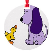 Baby Duck and Puppy Ornament