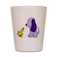 Baby Duck and Puppy Shot Glass