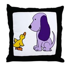 Baby Duck and Puppy Throw Pillow